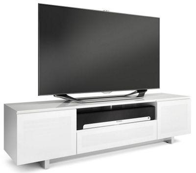 BDI Luxury Nora Slim Gloss White TV Cabinet