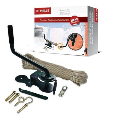 De Vielle Premium Clothesline Winder Set