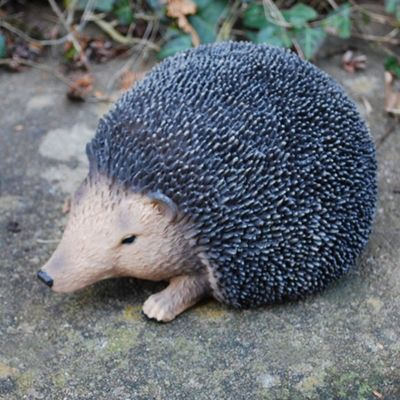 Small Lifelike Resin Hedgehog Ornament For The Garden