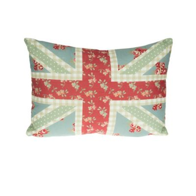 Dreams n Drapes Petticoat Union Jack Cushion Cover - Red 38x28cm