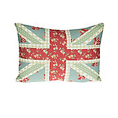 Dreams n Drapes Petticoat Union Jack Cushion Cover - Red 38x28cm