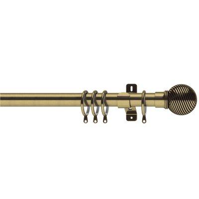 Swish Elements 28mm Curzon Antique Brass Curtain Pole - 240cm