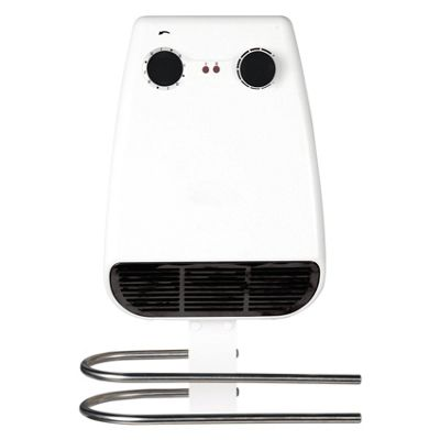 Prem-i-air 2kW Bathroom PTC Down-Flow Heater with Towel Warmer