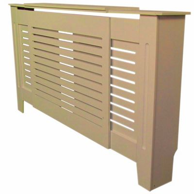 Jack Stonehouse Horizontal Slat Unpainted MDF Radiator Cover Adjustable