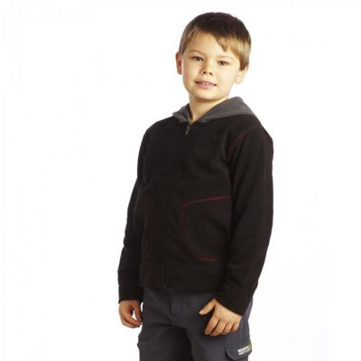 Kids Bobby Full Zip Fleece Jacket Black 11-12 - Regatta