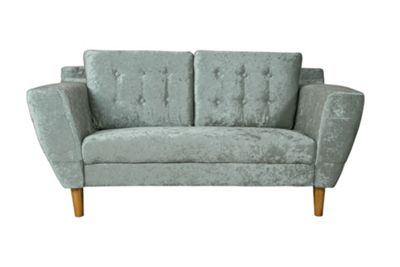 Harlow 2 Seater Sofa in Silver