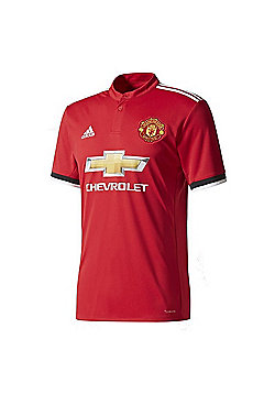 adidas Manchester United 2017/18 Mens Home Shirt Red - Red