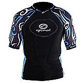 Optimum Razor Rugby Body Protection Black/Blue - L