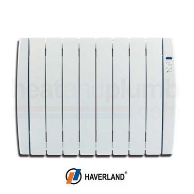 Haverland RC8TT Thermo Dynamic Gel Filled Designer Electric Radiator 1.0kW with Digital Thermostatic Controls