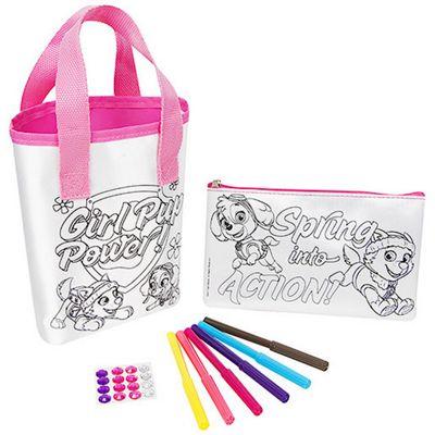 Paw Patrol Colour Your Own Bag & Pencil Case Set