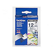 Brother TZ-FA3 Fabric Iron-On P-touch Tape blue on white