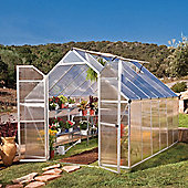 Palram Greenhouse Essence 8X12 - Silver - Polycarbonate and Aluminum Frame