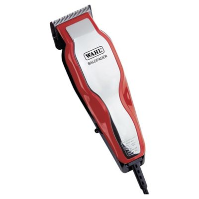 Wahl 79110 Mens Baldfader Single Cut Mains Hair Clipper Kit - Red / Silver