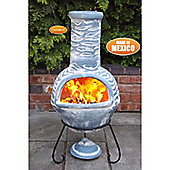 Large Olas Mexican Chimenea in Bluey Grey