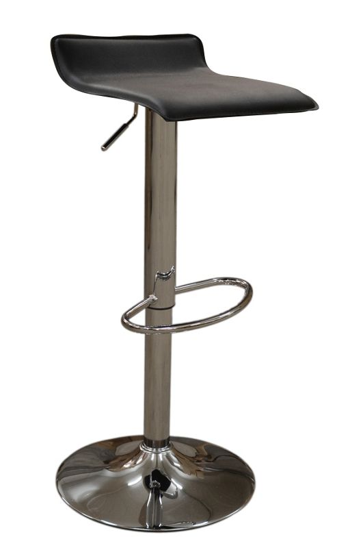 Zues Black Faux Leather Bar Stool