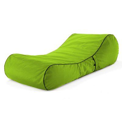 Loft 25 Water Resistant Bean Bag Sun Lounger - Lime