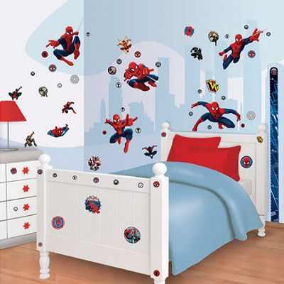 Walltastic Marvel Spiderman Room Decor Kit - 60 Stickers