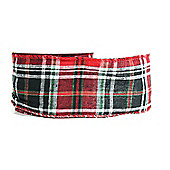 "Ribbon Wired Edge - 2.5"" x 10y - Tartan"