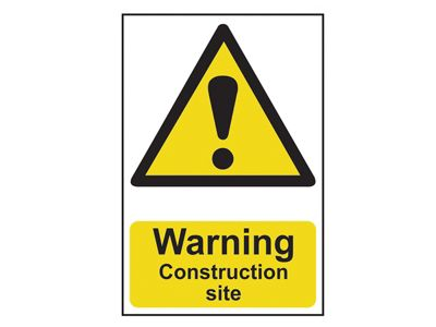 Scan Warning Construction Site - PVC 200 x 300mm