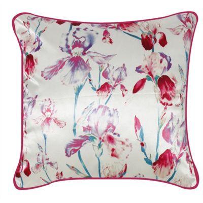 Satin Floral Cushion - Pink
