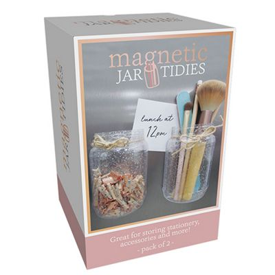Fizz Creations Magnetic Fridge Jar Tidies Brand New Home