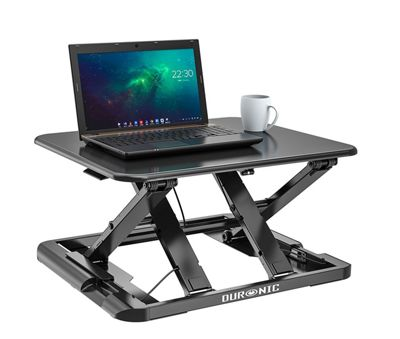 Duronic DM05D11 Sit Stand Desk PC Laptop Workstation Height Adjustable Table - Monitor and Keyboard Riser – Compatible with Duronic Monitor Arm