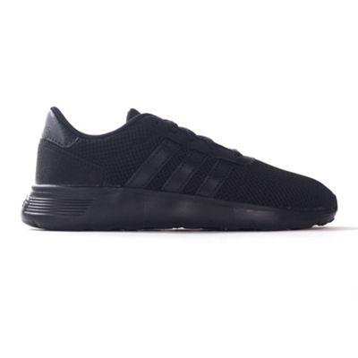 adidas NEO Lite Racer Kids Boys Sports Trainer Shoe Black/Black - UK 11