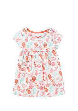 F&F Pineapple Print Smock Dress - White & Multi