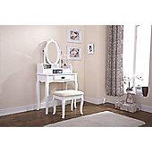 Lumberton Dressing Table & Stool Set White