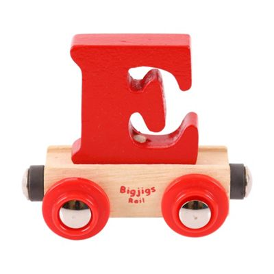 Bigjigs Rail Rail Name Letter E (Red)