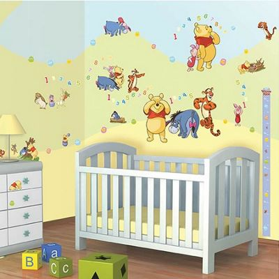 Walltastic Disney Winnie The Pooh Room Decor Kit - 79 Stickers