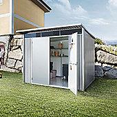 8 x 10 XLarge Premier Heavy Duty Metal Metallic Silver With Double Doors (2.6m x 3m) 8ft x 10ft