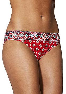 F&F Mosaic Print Bikini Briefs - Multi red
