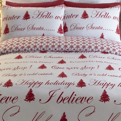 Its Christmas Super King Size Duvet - Red