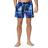 Speedo Checked Swim Shorts - Blue