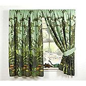 Jurassic Jungle Lined Curtains 66 inch x 72 inch (168cm x 183cm)