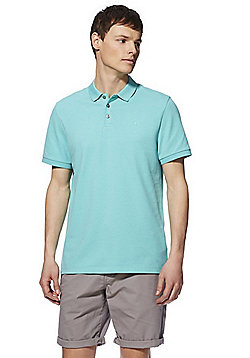 F&F Short Sleeve Polo Shirt with As New Technology - Mint Green