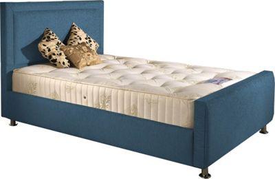 ValuFurniture Calverton Divan Bed and Mattress Set - Teal Chenille Fabric - Single - 3ft