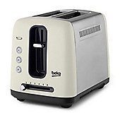 Beko-TAM7201C Traditional 2 Slice Toaster in Cream
