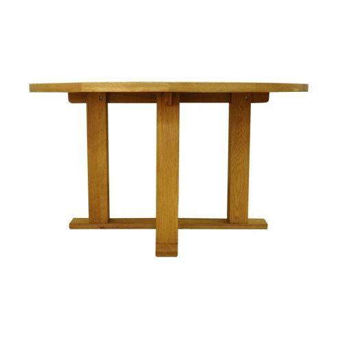 Cambridge Petite Rustic Oak 1.4m Round Dining Table