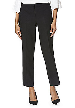 F&F Ankle Grazer Slim Leg Trousers with As New Technology - Black