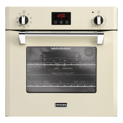 Stoves-RICH600MFCRM Built In Electric Single Oven with Dedicated Pizza Function in Cream