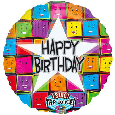 Faces Sing-a-Long Happy Birthday Balloon - 28 inch Foil