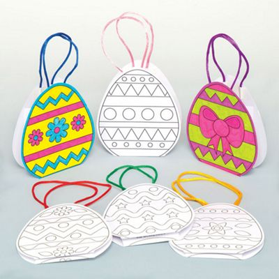 Buy easter egg colour in gift bags for children to design and easter egg colour in gift bags for children to design and paint creative craft negle Images