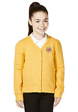 Girls Embroidered Jersey School Cardigan with As New Technology - Yellow gold