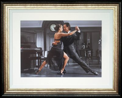 Spires Art It Takes Two to Tango by Denkou Framed Print - 84cm x 104cm