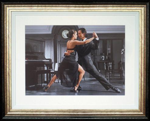 Spires Art It Takes Two to Tango by Denkou Framed Print - 84cm x 104cm