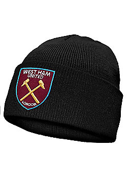 West Ham United FC Kids Knitted Hat - Black