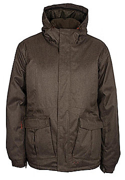 Yosemite Mens Waterproof Breathable Taped Snowboarding Skiing Ski Jacket Coat - Brown