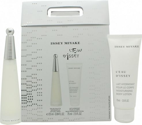 Issey Miyake L'Eau D'Issey Gift Set 25ml EDT + 75ml Body Lotion For Women